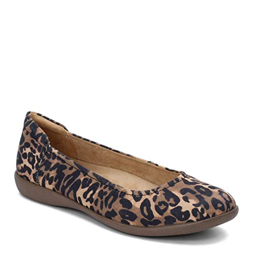 Naturalizer Women's Flexy Ballet Flat, Brown Cheetah, 8