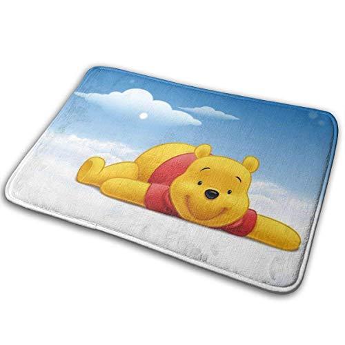 NA rutschfeste Fußmatte Coral Fleece Indoor Outdoor Badezimmer Küche Bodenteppich Haustürmatte Winnie The Pooh-