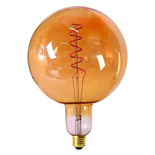Girard Sudron 716627-LED Globe G200 - Bombilla LED de filamento trenzado (ES Edison, 300 lúmenes, regulable, 6 W, color ámbar