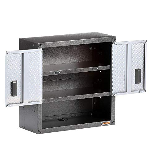 Gladiator GAWG28KDYG Ready-to-Assemble 3/4 Wall GearBox Steel Cabinet, Silver Tread