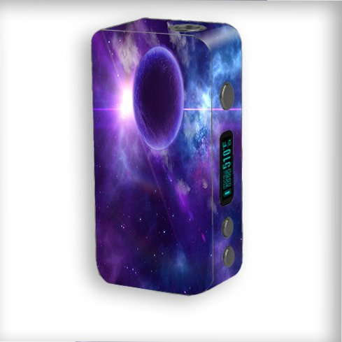 Skin Decal Vinyl Wrap for Smok Kooper Plus 200W Vape Mod Box / Purple Moon Galaxy
