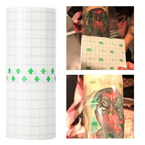 Duevin Einweg Tattoo Schutzfolie Tattoo Bandagen, Tattoo Make up Folie aus Konservierendem Kunststoff, Transparente Atmungsaktive Tattoo Barriere Schutz für Augenbrauen Lippen Make up Zubehör