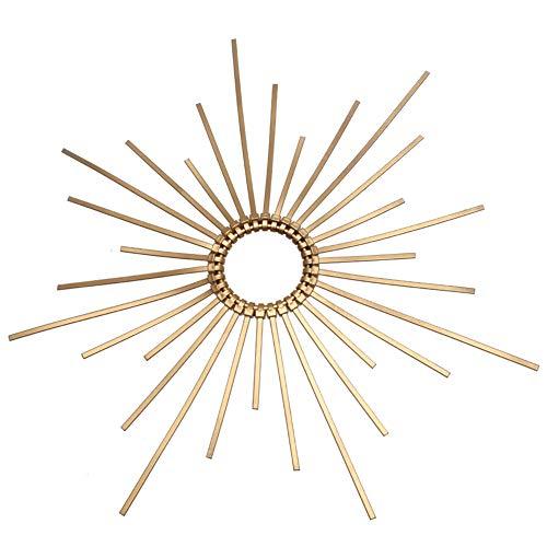 GRACEART Halo Sonne Headpiece Haarknoten-Band-Kronen-Kopfbedeckung traf Galakrone Heiliges Mary-Kronen-Kopfschmuck (Gold)