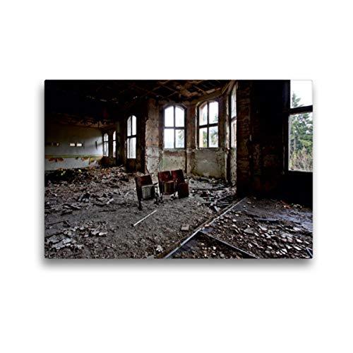 Premium Textil-Leinwand 45 x 30 cm Quer-Format Der verlassene Kinosaal, Leinwanddruck von SchnelleWelten
