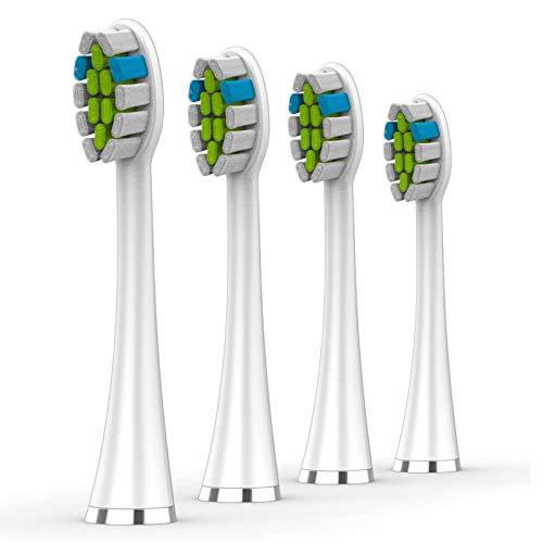 Lächen Ersatzbürstenkopf ,Passend für alle elektrischen Zahnbürsten von Lächen, S131 Weiß , 4 Stück