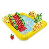 Piscina hinchable – PVC de alta densidad para niños, frutas de verano, carnaval, paddle Ocean Ball Pool Set con tobogán (493 litros)