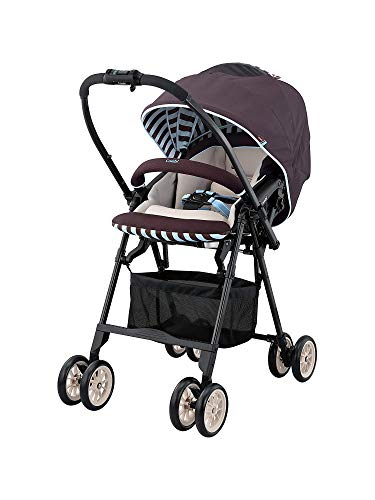 Combi Mechacal Dual Direction Stroller with Easy Fold Design | 170 Degree Full Seat Recline | Shock Absorbant Seat with Extended Canopy | Auto-Convert Wheels | Mint Brown