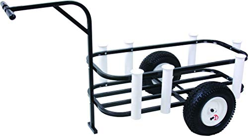 Sea Striker Deluxe Surf, Pier and Beach Cart – Outdoor Fishing Rolling Wheel Wagon
