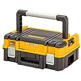Dewalt DWST83344-1 Werkzeugbox I (27l Volumen, kompakte Schaumstoffeinlage, kombinierbar mit Anderen TSTAK-Boxen, sichere Verwahrung von Elektrowerkzeugen und Handwerkzeugen, IP54)
