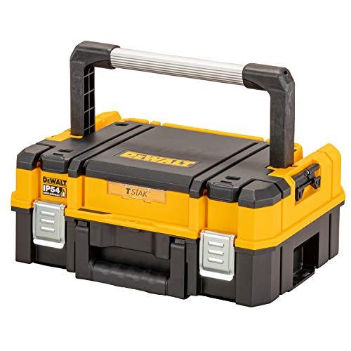 Dewalt DWST83344-1 Werkzeugbox I (27l Volumen, kompakte Schaumstoffeinlage, kombinierbar mit Anderen TSTAK-Boxen, sichere Verwahrung von Elektrowerkzeugen und Handwerkzeugen, IP54), Multi, One size