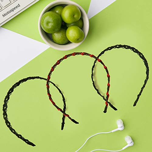 3 Pack Headbands, Fashion Hairband Fabric Sweet Hollow Iron Wire Hair Band Hair Accessories for Women and Girls