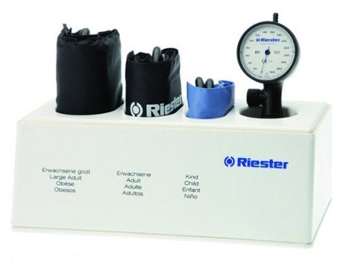 Riester - R1 Aneroid Shock-Proof Sphygmomanometer with Set of 3 Cuffs - -
