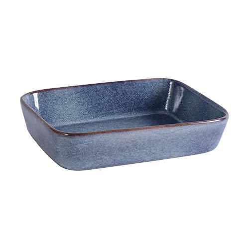 ProCook Auflaufform - Steinzeug - blau - Ofenform - 21cmx17cm - Backform - Steingut - reaktive Glasur