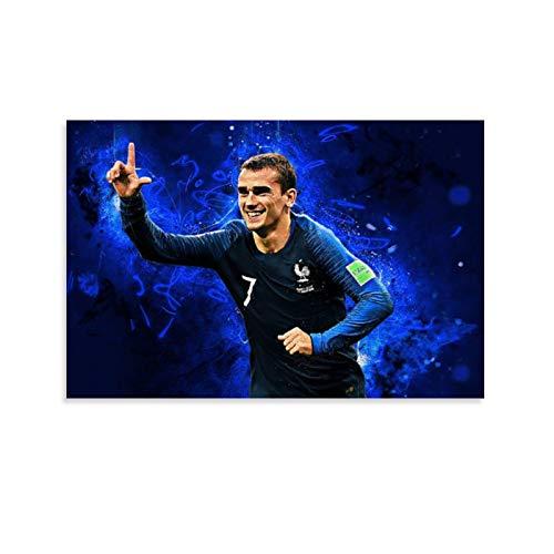 SHADIAO Póster artístico de Antoine Griezmann de los mejores momentos de los jugadores de fútbol, pintura decorativa en lienzo para pared para sala de estar, dormitorio, 30 x 45 cm