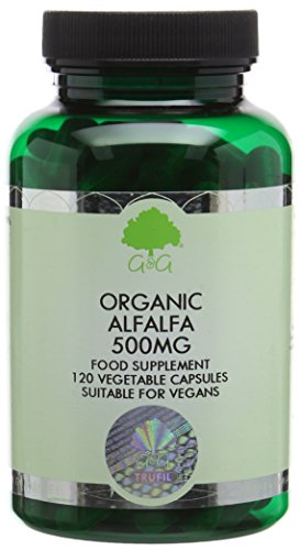 G&G Vitamins 500 mg Organic Alfalfa Capsules