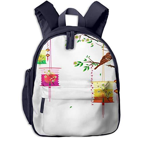 Kinderrucksack Kleinkind Jungen Mädchen Kindergartentasche Fee große Laternen Backpack Schultasche Rucksack