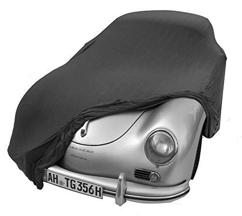 EXCOLO Auto Schutzhülle Schutzhaube Plane Indoor Hochwertig rot grau oder schwarz bis 5,80 m lang (Grau bis 4,30 Meter)