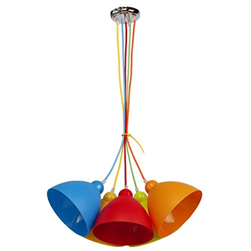 MW-Light 365014505 Pendelleuchte Mehrfarbig 5 Flammig Kunststoff Kinderzimmer