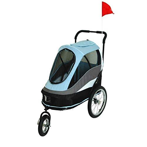 CWB Pet Bag Kinderwagen Luxuswagen Hundezugwagen Putin Schäferwagen, einfach zusammenklappbares Reisehaustierauto, Zuladung 25 kg Heimtierfahrräder (Farbe: Blau),Blue