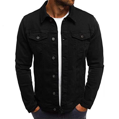 MakingDa męska prosta kurtka robocza guzik dół dżinsowe koszule z długim rękawem na co dzień inteligentne cienkie dopasowanie dżinsy kurtki odzież wierzchnia kardigan