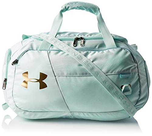 Under Armour Duffel Undeniable Duffel 4.0 Extrakleine Duffel-Tasche, Seaglass Blue / Metallic Gold Luster (403), OSFA, 1342655-403
