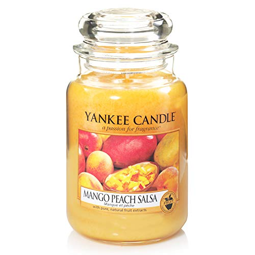 Yankee Candle Scented Candle | Mango Peach Salsa Large Jar Candle | Burn Time: Up to 150 Hours