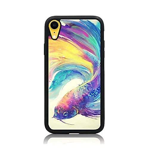 Cajas de teléfono Negras para iPhone 12/12 Pro MAX 12 Mini 11 Pro MAX SE X XS MAX XR 8 7 6 6s Plus Funda Colorful Art Carp Funda Protectora de Silicona TPU