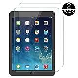 TECHKUN Protector de pantalla para Apple iPad Air (9,7 pulgadas, modelo de 2018/2017), iPad Air 1, iPad Air 2, iPad Pro de 9,7 pulgadas, cristal blindado templado