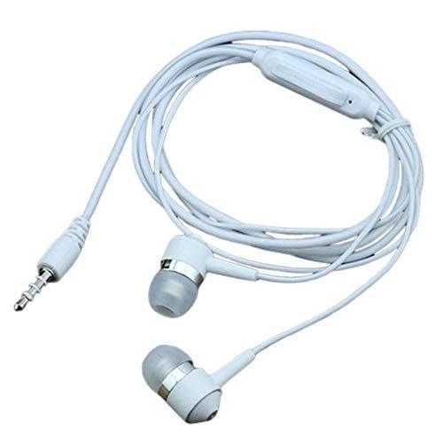 Tapones para los oídos de Vidrio en Color en línea Auriculares Deportivos Subwoofer de oído Digital (Blanco)