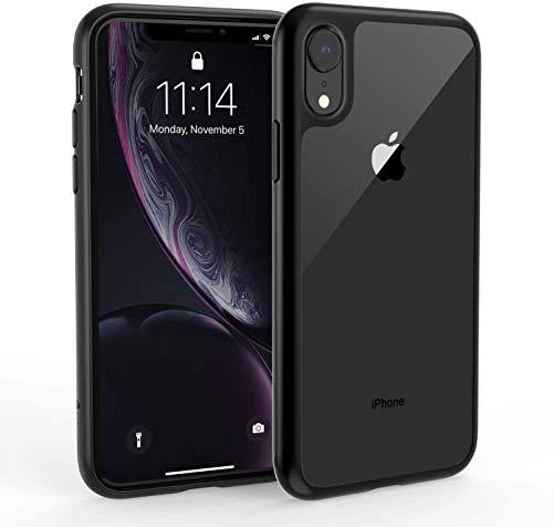"Syncwire Cover iPhone XR, Cover iPhone XR Trasparente in TPU e Custodia XR iPhone Silicone, Cover per iPhone XR 6.1"" - Trasparente Cristallino, Bordo Nero"