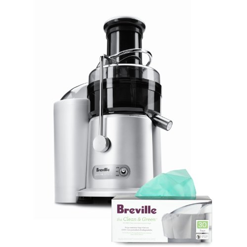 Breville Heavy-Grade Polymer Juice Fountain Plus with Pulp Container Bags