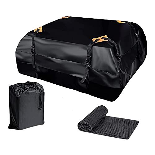 Bagagli Del Tetto Nero, Borsa Da Tetto Impermeabile 425L, Guscio Morbido, Pieghevole, Portatile, Universale,Roof packs and cushions