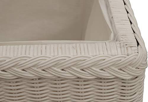 Spielzeugtruhe/Wäschetruhe aus Rattan in der Farbe grau groß - 5