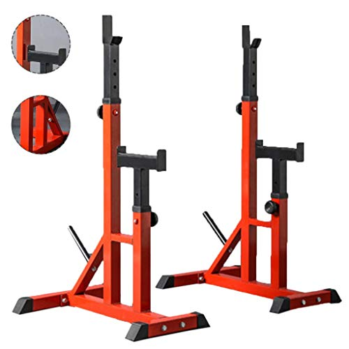 Cages de squat Barre de Traction Banc de Presse Porte-haltères de Fitness pour Hommes Étagère multifonctionnelle Support réglable Gym à Domicile Stand de Musculation Vendre Uniquement des étagères