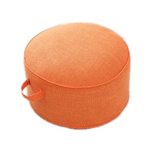 Larew Cojín redondo natural engrosado futón hogar dormitorio salón asiento cojín decorativo Cattail Tatami almohada clásica silla sentada cojín hogar suministros textiles 20* 40 cm naranja