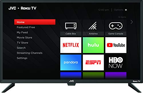 JVC Televisión LT-32MAW388 32″ Class Pantalla HD (720p) Roku Smart LED TV (Renewed)