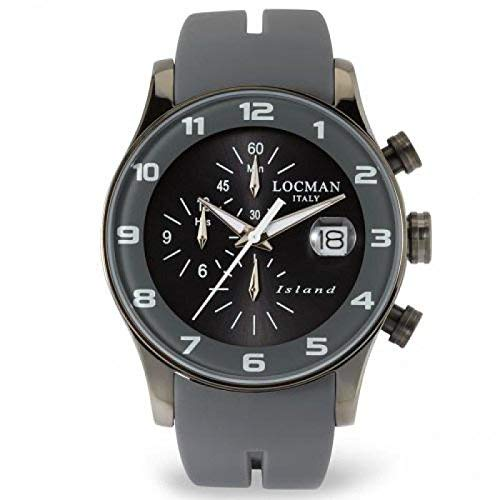 Locman Island/orologio uomo/quadrante grigio/cassa acciaio e...