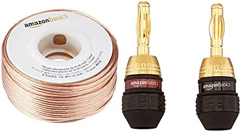 Amazon Basics 100ft 16-Gauge Audio Stereo Speaker Wire Cable, 100 Feet