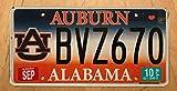 Inga Matrícula de 6 x 12 Pulgadas Alabama Auburn University College Collegiate Placa de matrícula Bvz 670' Al