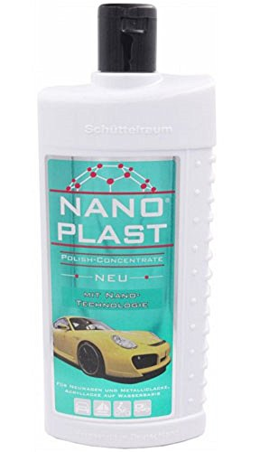 4 x Nano Plast universele polijstpasta 500 ml nieuw super kwaliteit langdurige bescherming, is slag- en stootbestendig volledig synthetische contactverzorging voor auto, boot en caravan, gelakte oppervlakken, keramische lak, acrylglas, roestvrij staal, chroom, marmer, kookplaten, enz.
