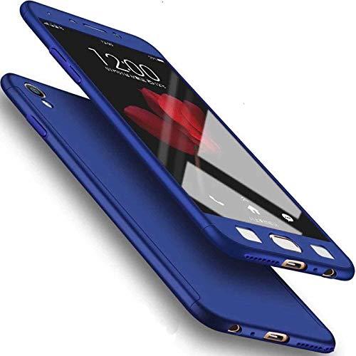 Funda para Xiaomi Mi 8Lite, carcasa rígida de color puro, protector de pantalla para teléfono móvil, funda delgada DANGE luz artificial delgada para Mi8 Lite X azul