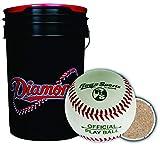 Diamond Sports 6-Gallon Bucket Black with 30 Diamond Sport D-OB SP Practice Baseballs R-100PB