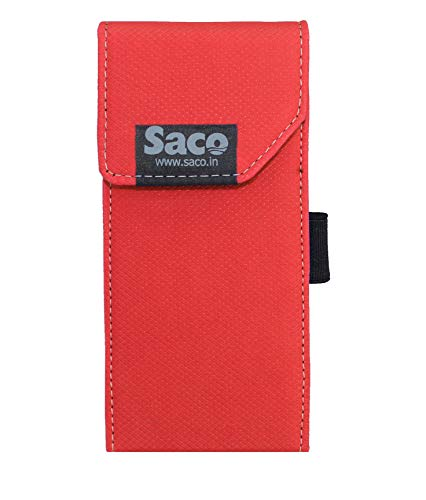 Saco Shock Proof Pouch Case Wallet Cover Protector for Mi 20000mAH Li-Polymer Power Bank 2i Model PB20IZM - Red