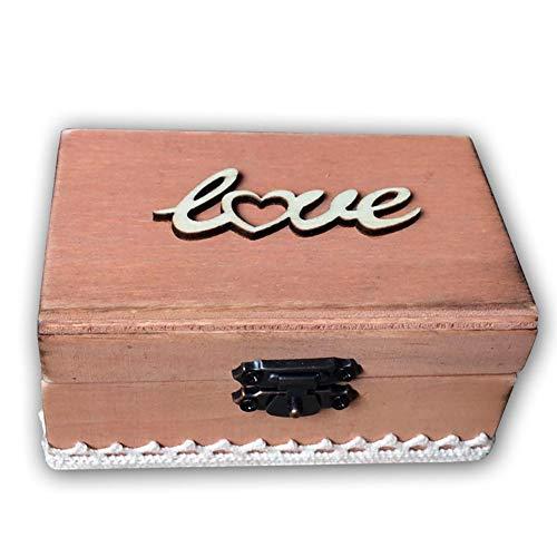 Demarkt Verlovingsring voor trouwring, voor bruiloft, verjaardag, ceremonie, aandenken doos, bruiloft, geschenk, sieraad, organizer 10x6x5cm C