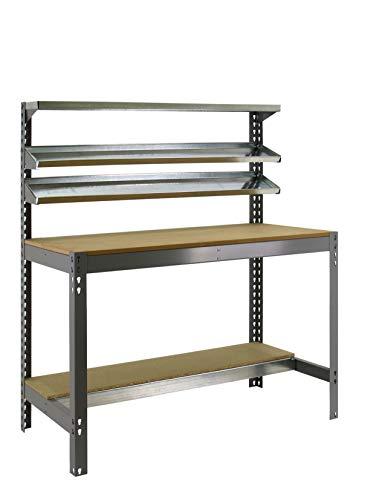 Banco de trabajo BT1 Simonwork Gris/Madera Simonrack 1445x910x610 mms - Banco de trabajo resistente - mesa de trabajo...