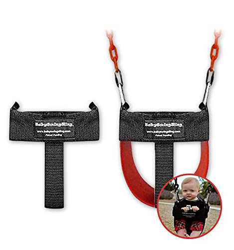 BabySwingSling – This Baby Swing Attachment Converts Standard Park Swings for Infants and Toddlers – Portable, Lightweight, Holds Up to 50 Pounds – Ideal for Swing Training This Summer