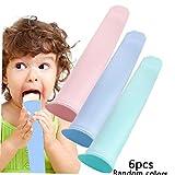 6 pezzi di ghiaccio del silicone Pop Maker Set BPA Free Hand-Held Piccolo fai da te gelato stampi Popsicle con coperchio Popsicle Stampi per i bambini colore casuale