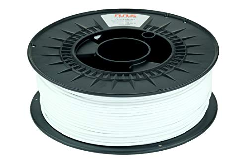 NuNus PETG Filament 1KG - 1,75mm Polyethylenterephthalat Lebensmittelecht Filament *Premium Qualität in verschiedenen Farben geeignet für 3D Drucker, 3D Stift (1.75mm, weiß)