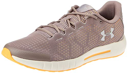 Under Armour womens Micro G Pursuit SE Running Shoe, Tetra Gray (601)/Summit White, 9.5