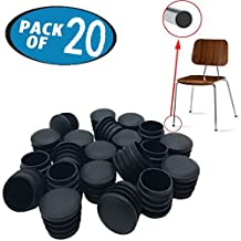 Originalidad 1 Inch Round Plastic Plug & Pipe Tubing End Cap, Great for Fencing Posts, Furniture End Caps, Fitness Equipment End Caps and More (20 Pack)